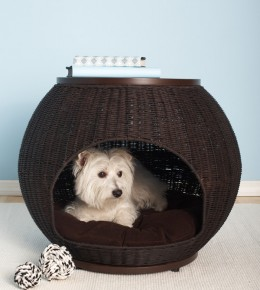 Faux Rattan Dog Bed