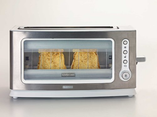 glass front toaster