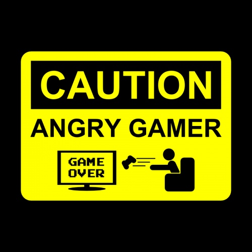 angry gamer door plaque