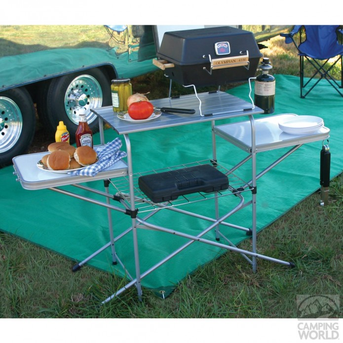 camping grill table